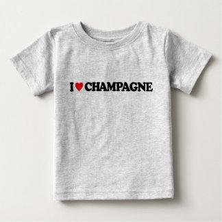 私はシャンペンを愛します ベビーTシャツ