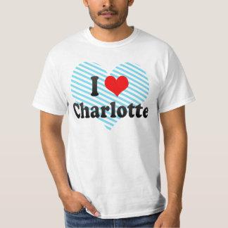 私はシャーロット、米国を愛します Tシャツ