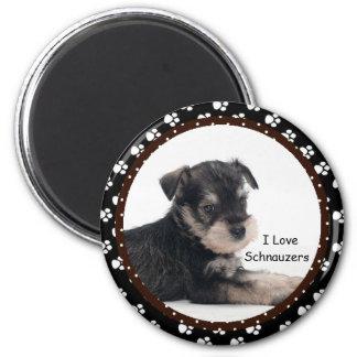 私はシュナウツァーの磁石を愛します マグネット