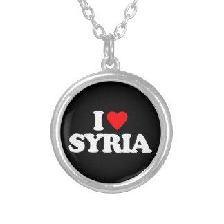 私はシリアを愛します シルバープレートネックレス