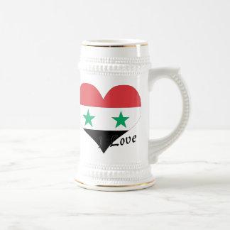 私はシリアを愛します ビールジョッキ