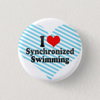 私はシンクロナイズドスイミングを愛します 3.2CM 丸型バッジ