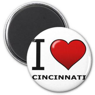 私はシンシナチ、オハイオ州-オハイオ州--を愛します マグネット