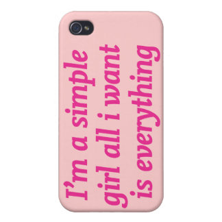 私はシンプルな女の子です iPhone 4 カバー