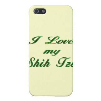 私はシーズー(犬)のTzuの私の緑を愛します iPhone 5 Cover