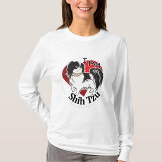私はシーズー(犬)のTzu私の幸せで愛らしくおもしろいで及びかわいい犬を愛します Tシャツ
