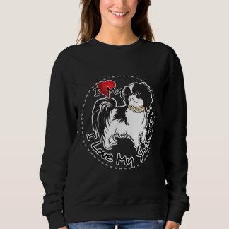 私はシーズー(犬)のTzu私の犬を愛します スウェットシャツ