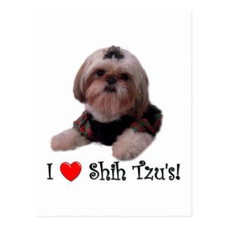 私はシーズー(犬) Tzuを愛します ポストカード