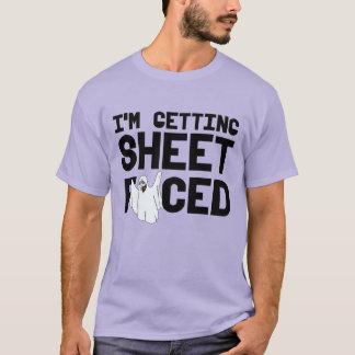 私はシートを直面されて得ています- Tシャツ