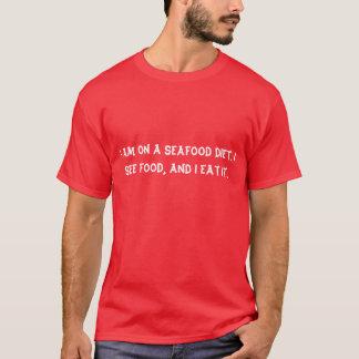 私はシーフードの食事療法にあります Tシャツ