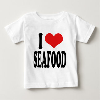 私はシーフードを愛します ベビーTシャツ