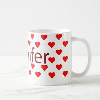 私はジェニファーのマグを愛します コーヒーマグカップ