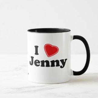 私はジェニーを愛します マグカップ