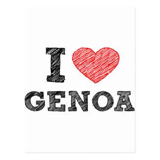 私はジェノアを愛します ポストカード