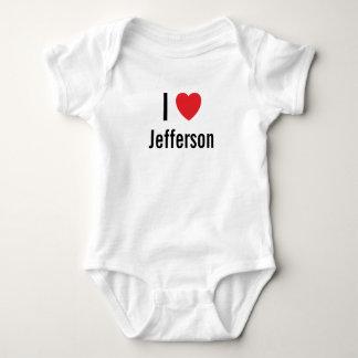 私はジェファーソンのベビージャンパーを愛します ベビーボディスーツ