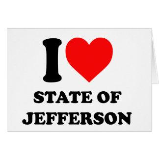 私はジェファーソンの州を愛します カード