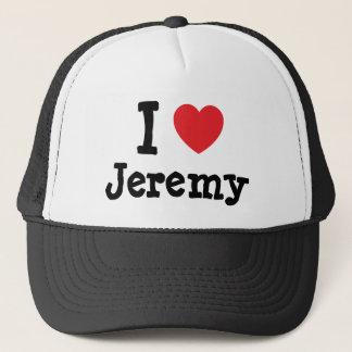 私はジェレミーのハートのTシャツを愛します キャップ
