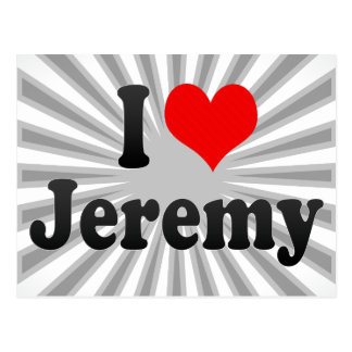 私はジェレミーを愛します ポストカード