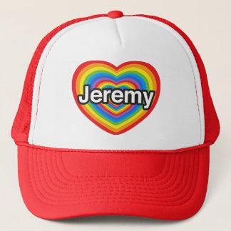 私はジェレミーを愛します。 私はジェレミー愛します。 ハート キャップ