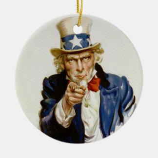 私はジェームスモントゴメリーFlaggによって米国陸軍のためのほしいと思います セラミックオーナメント