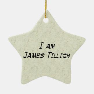 私はジェームスTillichです セラミックオーナメント
