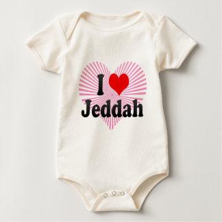 私はジッダ、サウジアラビアを愛します ベビーボディスーツ