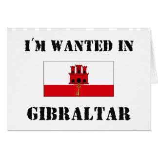 私はジブラルタルで望まれます カード