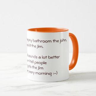私はジムのおもしろいな引用文の冗談の茶コーヒー・マグに行きます マグカップ