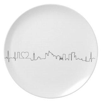 私はジャカルタ(ecgのスタイル)の記念品を愛します ディナー皿