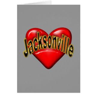 私はジャクソンビルを愛します カード