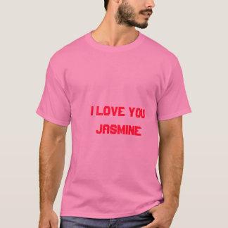 私はジャスミンの女の子猫によってジャスミンのTシャツ3愛します Tシャツ