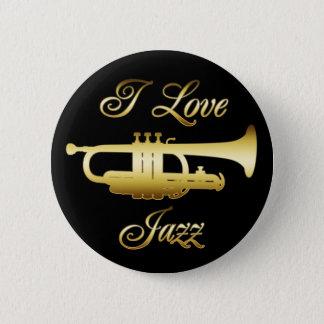私はジャズを愛します 缶バッジ