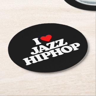 私はジャズヒップホップを愛します ラウンドペーパーコースター