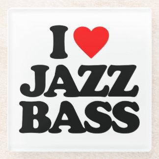私はジャズ低音を愛します ガラスコースター