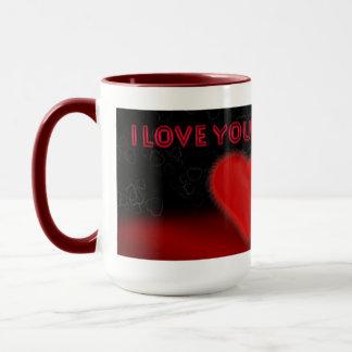 私はジャッキラッセルおよび大きいハートのマグ愛します マグカップ
