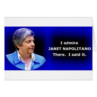 私はジャネットNapolitanoを賞賛します カード