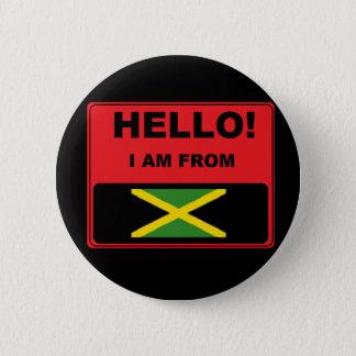 """""""私はジャマイカから""""のバッジあります 5.7CM 丸型バッジ"""