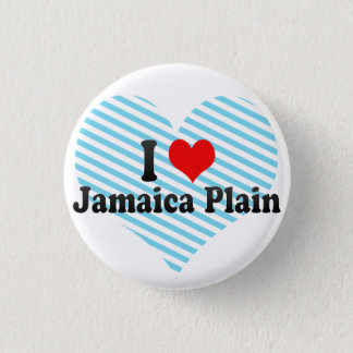私はジャマイカの平野、米国を愛します 缶バッジ