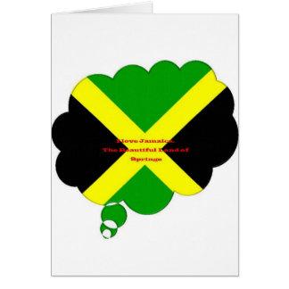 私はジャマイカを愛します。 春の美しい土地 カード