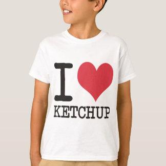 私はジャワ-ケチャップ-を子猫のプロダクト及びデザイン愛します! Tシャツ