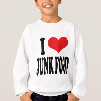 私はジャンクフードを愛します スウェットシャツ