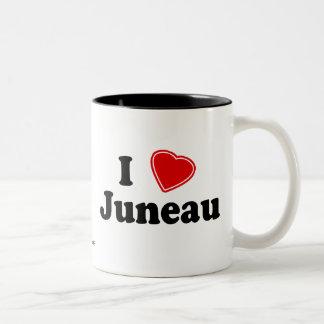 私はジュノーを愛します ツートーンマグカップ