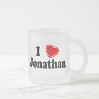 私はジョナサンを愛します フロストグラスマグカップ