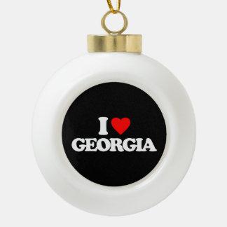 私はジョージアを愛します セラミックボールオーナメント