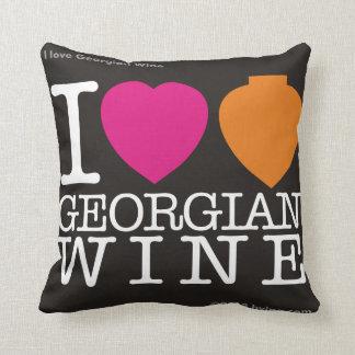 """""""私はジョージ王朝のワイン""""の枕黒愛します クッション"""