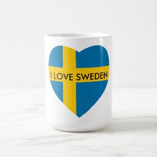 私はスウェーデンのハートを愛します コーヒーマグカップ
