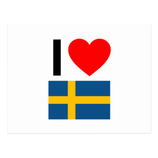 私はスウェーデンを愛します ポストカード