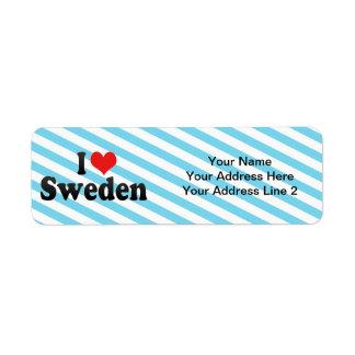 私はスウェーデンを愛します ラベル