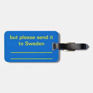 私はスウェーデン人ではないです ラゲッジタグ
