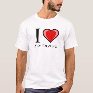 私はスカイダイビングを愛します Tシャツ